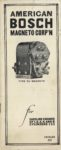 AMERICAN BOSCH MAGNET CORP'N TYPE DU MAGNETO for GASOLINE ENGINES OF 1, 2, 3, 4 AND 6 CYLINDERS CATALOG 50 10-1-1919 Front cover