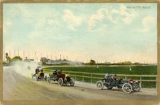 1907 ca. AN AUTO RACE EL Theochrom Series No 119 Germany racecar postcard front