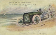 1910 ca. Blessed be the pace-maker, for he shall ride in no man's dust. By L. F. Hess postcard front