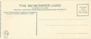 1910 ca. EMPIRE CITY RACE TRACK SKYSCRAPER CARD NYC GERMANY 6×2