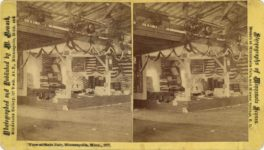 1877 Minnesota State Fair Flags View at State Fair Minneapolis, Minn. 1877 M. Nowack Minneapolis stereoview 7″×4″