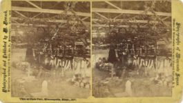 1877 Minnesota State Fair View at State Fair Minneapolis, Minn. 1877 M. Nowack Minneapolis stereoview 7″×4″