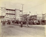 1903 9 4 Minnesota State Fair Midway East Side Elgin R. Sheparo photo Minneapolis 11″×9″ image 9.5″×7.75″