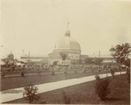 1903 Minnesota State Fair Main Exhibition Building (Burned down Nov. 10, 1944)  Agriculture Horticultural Building is the replacement, built in 1947  Elgin R. Sheparo photo Minneapolis 14″×11″ image 9.75″×7.75″