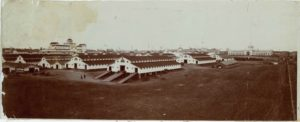 1903 ca. Minnesota State Fair Stock Barns, Grandstand, Main Building & Agriculture Building 16.5″×6.5″