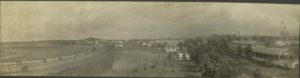 1904 or later Minnesota State Fair Race Track, Machinery Hall, Manufacturers Building (behind  LA CROSSE) & Main Building HUBBARD POTTER photo Minneapolis image 15.5″×4″