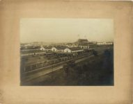1905 ca. Minnesota State Fair Live Stock Barns and Great Amphitheater C.P. Gibson photo St. Paul 14″×11″ image 10″×7″