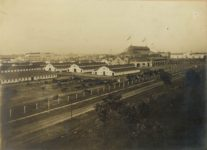 1906 ca. Minnesota State Fair Grandstand, Live Stock Barns, Great Amphitheater (Hippodrome) & Agriculture Building C.P. Gibson photo St. Paul 14″×11″ image 10″×7″
