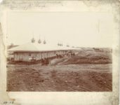1910 7 ca. Minnesota State Fair Race Horse Barns Newly located Grading for plaza 11.25″×10″ image 9.75″×7.5″