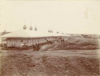 1910 7 ca. Minnesota State Fair Racing stables, west of the Grandstand  Newly located Grading for plaza 11.25″×10″ image 9.75″×7.5″