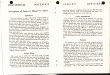 "1911 CASE Continental Motors Muskegon, Michigan Model ""C"" AACA Library xerox pages 10 & 11"