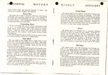 "1911 CASE Continental Motors Muskegon, Michigan Model ""C"" AACA Library xerox pages 12 & 13"