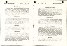 "1911 CASE Continental Motors Muskegon, Michigan Model ""C"" AACA Library xerox pages 14 & 15"