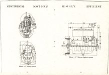 "1911 CASE Continental Motors Muskegon Michigan Model ""C"" AACA Library xerox pages 16 & 17"
