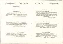 "1911 CASE Continental Motors Muskegon, Michigan Model ""C"" AACA Library xerox pages 20 & 21"