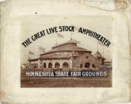 1922 6 ca. Minnesota State Fair THE GREAT LIVE STOCK AMPHITHEATER MINNESOTA STATE FAIR GROUNDS 14″×11″ image 9.75″×7.5″