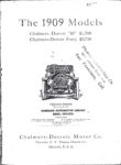 """1909 Chalmers-Detroit 1909 Models """"30 & Forty HARRAHS AUTOMOTIVE LIBRARY xerox AACA Library page 2 1"""