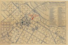 1910 ca. Map of the Central Business District of Minneapolis Hotel Vendome Foreman, Ford & Co. 17″×11″