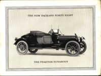 """1914 PACKARD """"48"""" MOTOR CARRIAGES THE NEW PACKARD FORTY-EIGHT THE PHAETON RUNABOUT picture Antique Automobile Club of America Library page 1"""