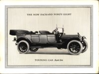 """1914 PACKARD """"48"""" MOTOR CARRIAGES THE NEW PACKARD FORTY-EIGHT TOURING CAR Right Side pictured Antique Automobile Club of America Library page 3"""