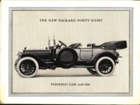 """1914 PACKARD """"48"""" MOTOR CARRIAGES THE NEW PACKARD FORTY-EIGHT TOURING CAR Left Side pictured Antique Automobile Club of America Library page 4"""