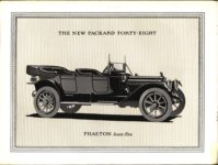 """1914 PACKARD """"48"""" MOTOR CARRIAGES THE NEW PACKARD FORTY-EIGHT PHAETON Seats Five picture Antique Automobile Club of America Library page 5"""