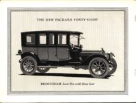 """1914 PACKARD """"48"""" MOTOR CARRIAGES THE NEW PACKARD FORTY-EIGHT BROUGHAM COUPE Seats Five with Drop Seat picture Antique Automobile Club of America Library page 7"""
