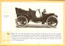 1914 Packard A PATRICIAN AND ITS PROTO TYPES ASK THE MAN WHO OWNS ONE MCMXIV MODEL K – picture and description Antique Automobile Club of America Library page 10