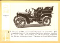 1914 Packard A PATRICIAN AND ITS PROTO TYPES ASK THE MAN WHO OWNS ONE MCMXIV MODEL L – picture and description Antique Automobile Club of America Library page 11