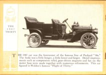 1914 Packard A PATRICIAN AND ITS PROTO TYPES ASK THE MAN WHO OWNS ONE MCMXIV THE 1907 THIRTY – picture and description Antique Automobile Club of America Library page 14