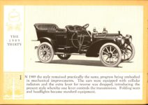 1914 Packard A PATRICIAN AND ITS PROTO TYPES ASK THE MAN WHO OWNS ONE MCMXIV THE 1909 THIRTY – picture and description Antique Automobile Club of America Library page 16