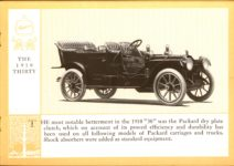 1914 Packard A PATRICIAN AND ITS PROTO TYPES ASK THE MAN WHO OWNS ONE MCMXIV THE 1910 THIRTY – picture and description Antique Automobile Club of America Library page 17