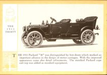 1914 Packard A PATRICIAN AND ITS PROTO TYPES ASK THE MAN WHO OWNS ONE MCMXIV THE 1911 THIRTY – picture and description Antique Automobile Club of America Library page 18