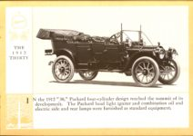 1914 Packard A PATRICIAN AND ITS PROTO TYPES ASK THE MAN WHO OWNS ONE MCMXIV THE 1912 THIRTY – picture and description Antique Automobile Club of America Library page 19