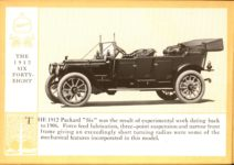 1914 Packard A PATRICIAN AND ITS PROTO TYPES ASK THE MAN WHO OWNS ONE MCMXIV THE 1912 SIX FORTY-EIGHT – picture and description Antique Automobile Club of America Library page 20