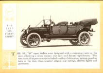 1914 Packard A PATRICIAN AND ITS PROTO TYPES ASK THE MAN WHO OWNS ONE MCMXIV MODEL 1913 SIX FORTY-EIGHT – picture and description Antique Automobile Club of America Library page 21