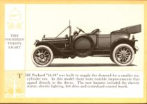 1914 Packard A PATRICIAN AND ITS PROTO TYPES ASK THE MAN WHO OWNS ONE MCMXIV THE FOURTEEN THIRTY-EIGHT – picture and description Antique Automobile Club of America Library page 22