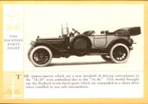 1914 Packard A PATRICIAN AND ITS PROTO TYPES ASK THE MAN WHO OWNS ONE MCMXIV THE FOURTEEN FORTY-EIGHT – picture and description Antique Automobile Club of America Library page 23