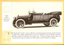 1914 Packard A PATRICIAN AND ITS PROTO TYPES ASK THE MAN WHO OWNS ONE MCMXIV THE TWO THIRTY-EIGHT – picture and description Antique Automobile Club of America Library page 24