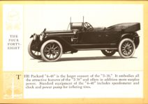 1914 Packard A PATRICIAN AND ITS PROTO TYPES ASK THE MAN WHO OWNS ONE MCMXIV THE FOUR FORTY-EIGHT – picture and description Antique Automobile Club of America Library page 25