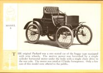 1914 Packard A PATRICIAN AND ITS PROTO TYPES ASK THE MAN WHO OWNS ONE MCMXIV MODEL A – picture and description Antique Automobile Club of America Library page 6