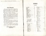 1914 Stutz PARTS PRICE LIST and INSTRUCTION BOOK SERIES E AACA Library xerox page 38 & INDEX