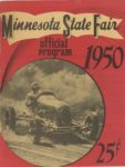 1950 Minnesota State Fair official program 8″x10.5″ Front cover