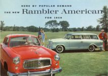 1959 RAMBLER HERE BY POPULAR DEMAND THE NEW Rambler American FOR 1959 AM 59–7011 11.5″×8″ Front