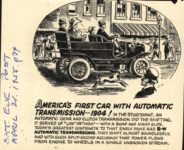 1904 STURTEVANT AMERICAS FIRST CAR WITH AUTOMATIC TRANSMISSION 1904 THE SATURDAY EVENING POST April 21, 1956 AACA Library page 74
