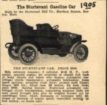 1905 STURTEVANT The Sturtevant Gasoline Car PRICE $5,000 AACA Library