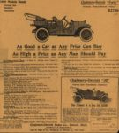 1909 CHALMERS-DETROIT As Good a Car as Any Price Can Buy As High a Price as Any Man Should Pay newspaper ad AACA Library 11″×12″