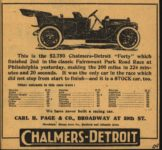 1909 CHALMERS-DETROIT Fairmount Park Road Race newspaper ad AACA Library 5.5″×5.25″