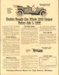1910 CHALMERS-DETROIT Dealers Bought Out Our Whole 1910 Output Before July 1, 1909 AACA Library