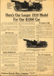 1910 CHALMERS-DETROIT Heres Our Larger 1910 Model For Our $1,500 Car Collier's ad 9.75″×13.75″ AACA Library